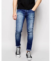 Loyalty & Faith - Skinny-Jeans im Distressed-Look, mittlere Waschung - Blau