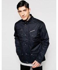 Ringspun - Scramble - Jacke aus gewachster Baumwolle - Schwarz