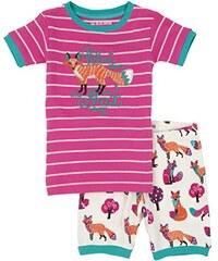 Hatley Mädchen Zweiteiliger Schlafanzug Lbh Kids Short Pj Set - Party Fox
