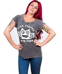 Five Finger Death Punch Damen T-Shirt Knuckleduster Acid Wash