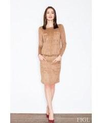 FIGL Dámské šaty M452 brown