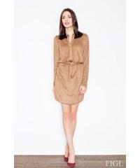FIGL Erotické šaty M454 brown