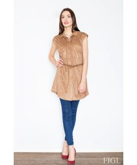 FIGL Erotické šaty M451 brown