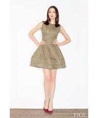 FIGL Dámské šaty M457 olive