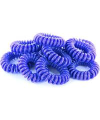 Lesara 10er-Set Haargummi im Telefonkabel-Design - Blau