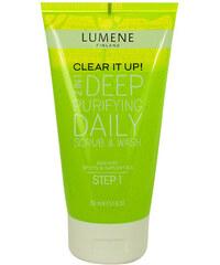 Lumene Clear It Up! Deep Purifying Daily Scrub & Wash 150ml Peelingový přípravek W Pro mastnou pleť