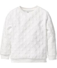bpc bonprix collection Sweat-shirt structuré, T. 80/86-128/134 blanc manches longues enfant - bonprix