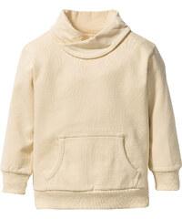 bpc bonprix collection Sweat-shirt à col large, T. 80/86-128/134 beige manches longues enfant - bonprix