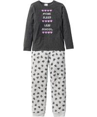 bpc bonprix collection Pyjama (Ens. 2 pces.), T. 128/134-176/182 gris lingerie - bonprix
