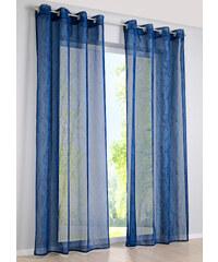 bpc living Voilage Bjarne (1 pce.), œillets bleu maison - bonprix