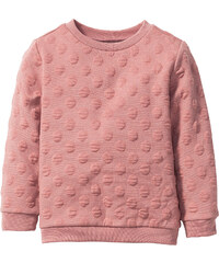 bpc bonprix collection Sweat-shirt structuré, T. 80/86-128/134 rose manches longues enfant - bonprix