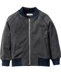 bpc bonprix collection Gilet sweat-shirt, T. 80/86-128/134 gris manches longues enfant - bonprix