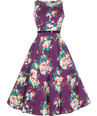 Retro šaty Lady V London Audrey Purple Floral