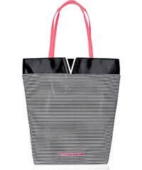 Černobílá pruhovaná plážová taška Victoria´s Secret