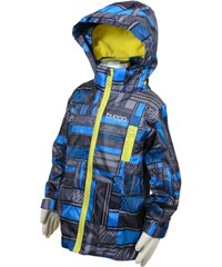 Bugga Chlapecká outdoorová bunda nepromokavá s podšívkou - modrošedá