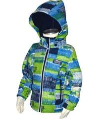 Bugga Chlapecká funkční voděodolná softshellová bunda - modrozelené