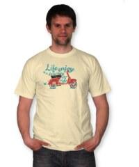 PANDEMIC Pánské tričko s nápisem Vespa: Život je cesta