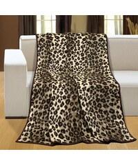 Deka vzorovaná 150x200cm leopardí kůže