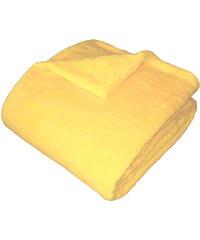 Dadka Vracov Super soft deka Dadka - světle žlutá 150/100