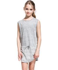 SUNDEK striped mini tracy dress