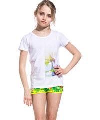 SUNDEK sylvie t-shirt with miami dream print