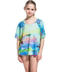 SUNDEK betta t-shirt with miami dream print
