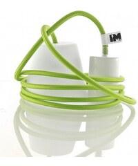 IMINDESIGN Silikon 1-závěsná žárovka, green/white