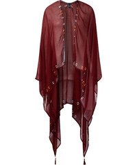 Cecil - Poncho ouvert en viscose - burnt henna red