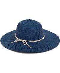 Lesara Strohhut mit Schleifenband - Blau