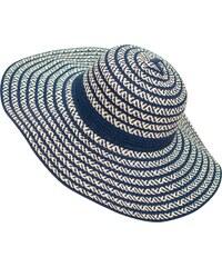 Lesara Strohhut mit Streifen-Muster - Blau