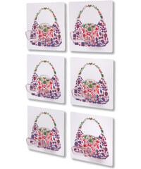 bpc living Handtaschen-Haken Luisa (6er-Pack) in lila von bonprix