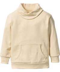bpc bonprix collection Sweatshirt mit weitem Kragen, Gr. 80/86-128/134 langarm in beige für Jungen von bonprix