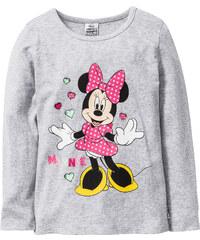 Minnie Mouse Langarmshirt MINNIE, Gr. 80/86-140/146 in grau für Mädchen von bonprix