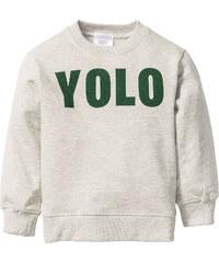 bpc bonprix collection Sweatshirt bedruckt, Gr. 80/86-128/134 langarm in weiß für Jungen von bonprix