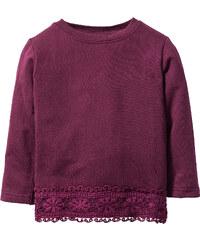 bpc bonprix collection Sweat à dentelle, T. 80/86-128/134 violet manches longues enfant - bonprix