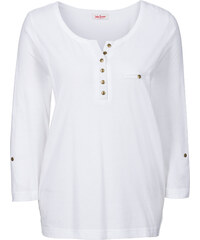 John Baner JEANSWEAR T-shirt manches 3/4 blanc femme - bonprix