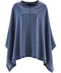bpc bonprix collection Poncho sweat look usé bleu manches mi-longues femme - bonprix