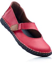 bpc selection Ballerines à bride en cuir rouge chaussures & accessoires - bonprix