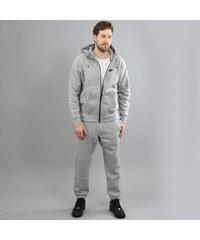 Nike AW77 FLC Hoody TRK ST melange šedý