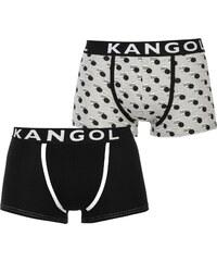 Boxerky Kangol Knitted 2 Pack Black