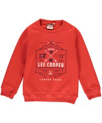 Lee Cooper London Crew Sweatshirt dětské Boys Red