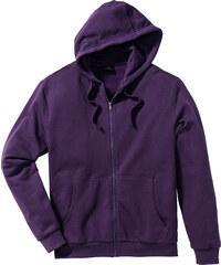 bpc bonprix collection Gilet sweat-shirt à capuche Regular Fit violet manches longues homme - bonprix