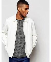 ASOS - Veste en jean à ourlet élastique - Blanc - Blanc