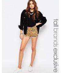 Noisy May Tall - Shorts mit Retro-Blumenmuster - Mehrfarbig
