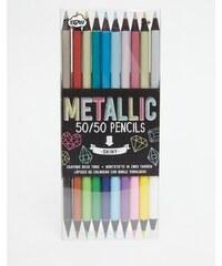 NPW - 50/50 Buntstifte in Metallic - Mehrfarbig