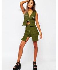Shade - London - Short taille haute style militaire - Vert