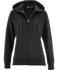 bpc bonprix collection Sweatjacke langarm in schwarz für Damen von bonprix