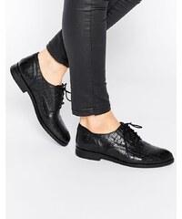 Bronx - Chaussures plates en cuir à lacets - Noir