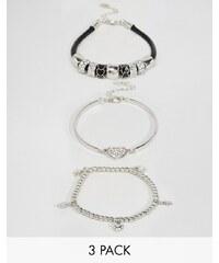 Lipsy - Lot de bracelets à breloque - Argenté