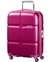Skořepinový kabinový kufr American Tourister Supersize spinner 55 cm 01G-001 - fialová
